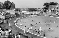Rhos-on-Sea, The Bathing Pool c.1959