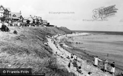 Rhos-on-Sea, The Beach c.1955