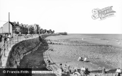 Rhos-on-Sea, The Beach c.1960