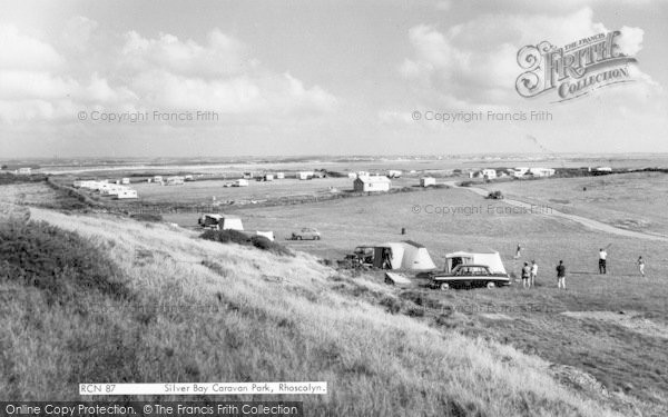 Photo of Rhoscolyn, Silver Bay Caravan Site c.1963