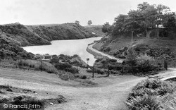 Rhosllanerchrugog, The Reservoir c.1955