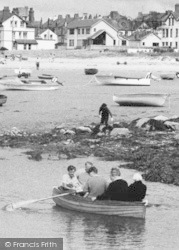 Rhosneigr, Boating At Low Tide c.1960