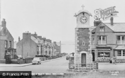 Rhosneigr, Clock Tower And Beach Road c.1955