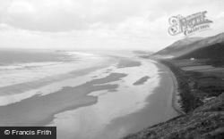 Rhossili, Beach And Cliffs 1964
