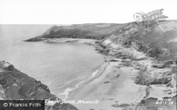 Fall Bay And Tears Point c.1955, Rhossili