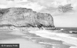 Rhossili, Mewslade Bay c.1955