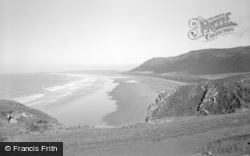 Rhossili, The Bay 1955