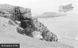 Rhossili, The Cliffs 1963