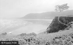 Rhossili, The Cliffs 1963