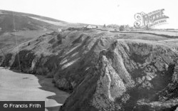 Rhossili, Village From Cliffs c.1955