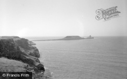 Rhossili, Worms Head 1955
