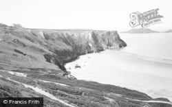Rhossili, Worms Head And Sands c.1955