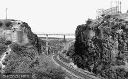 Rhosymedre, The Wooden Bridge From Coed Richard c.1955