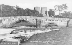 Rhuddlan, Bridge And Castle c.1950