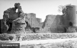 Castle, Showing South Tower 1952, Rhuddlan