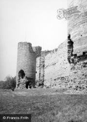 Rhuddlan, Castle Walls 1952