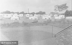 Rhuddlan, Pleasant View Camp Showing The Castle 1953
