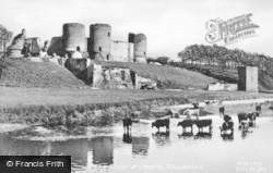The River And Castle c.1950, Rhuddlan
