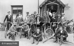 Cyclists Outside The Snowdon Ranger Hotel c.1910, Rhyd-Ddu