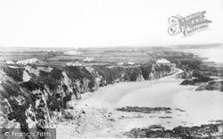 Rhydwyn, Beach And Cliffs c.1936