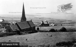 Rhydwyn, Church Bay And St Rhyddlad's Church c.1955
