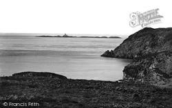 Rhydwyn, The Skerries Light From Fydlyn Bay c.1936