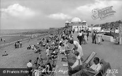 Rhyl, Beach And Promenade c.1955