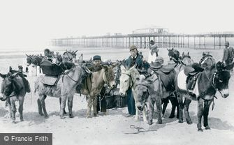 Rhyl, Donkeys on the Sands 1891