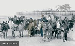 Donkeys On The Sands 1891, Rhyl