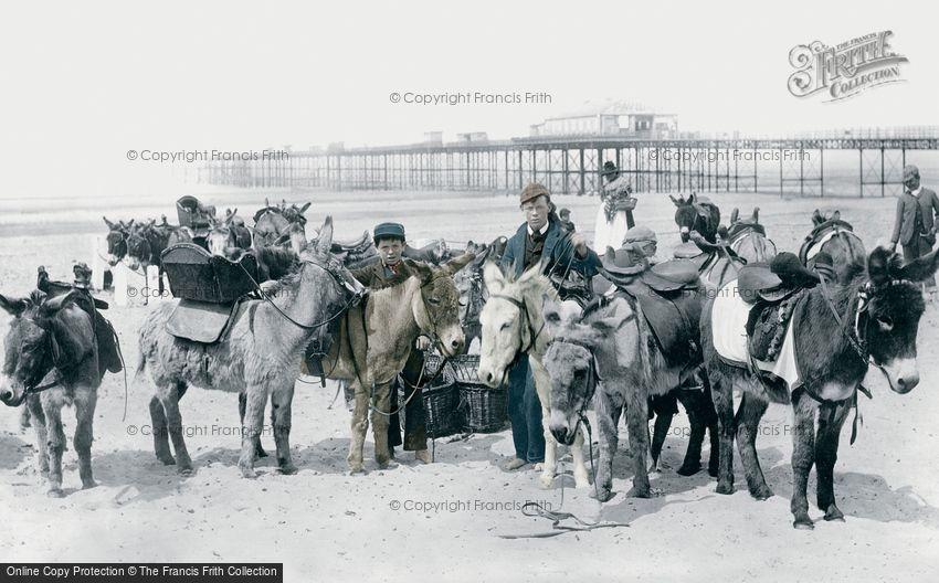 Rhyl, Donkeys on the Sands 1891