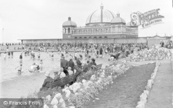 Rhyl, Pavilion And Paddling Pool c.1935