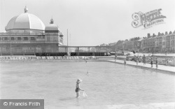 Rhyl, Pavilion And Paddling Pool c.1948