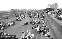 The Beach And Pier c.1955, Rhyl