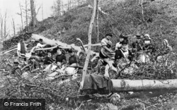 Ribbesford Wood, Working Party c.1900, Ribbesford