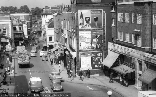 Photo of Richmond, Advertisements, Hill Street c.1963