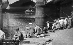 Richmond, Fishing on the River Thames 1947