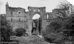 Rievaulx Abbey, West Front c.1871