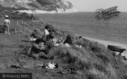 Ringstead, People At The Bay c.1955