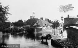 Ringwood, 1st Bridge And Church 1900