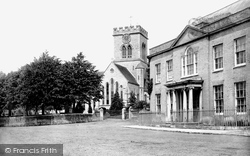 Ringwood, Church Of St Peter And St Paul From The Market Place 1890
