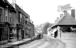 Ringwood, Fish Inn From Market Place 1890