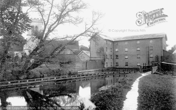 Ringwood,Mill and Church 1900,Hampshire