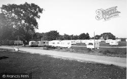 Ringwood, Oak Tree Farm Caravan Site c.1965