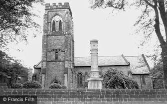 Ripley, All Saints Church and War Memorial c1955
