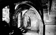 Ripon, Cathedral Crypt Under Chapter House c.1885