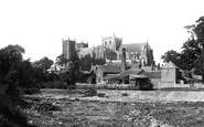 Ripon, The Cathedral And The Weir c.1885