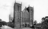 Ripon, The Cathedral, North West 1895
