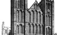 Ripon, The Cathedral, North West c.1885