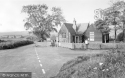 Ripple, The School And Cross Roads c.1955