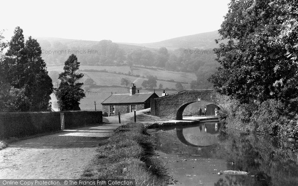 Risca, Canal Bridge and Moriah Hill c1955